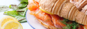 Croissant au saumon